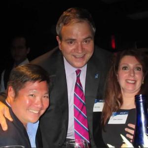 JetBlue CEO Robin Hayes with Jeffrey Wu
